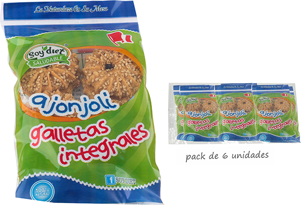 galletas integrales ajonjoli