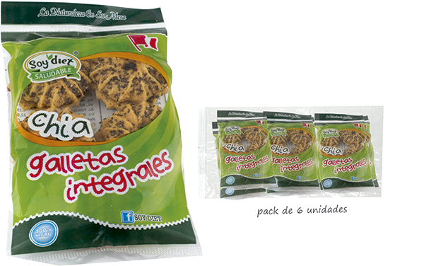 galletas integrales chia